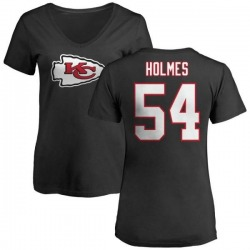 Women's Tyrone Holmes Kansas City Chiefs Name & Number Logo Slim Fit T-Shirt - Black
