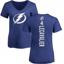 Women's Vincent Lecavalier Tampa Bay Lightning Backer T-Shirt - Blue