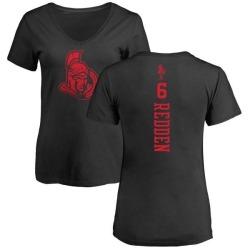 Women's Wade Redden Ottawa Senators One Color Backer T-Shirt - Black