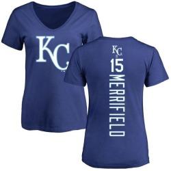 Women's Whit Merrifield Kansas City Royals Backer Slim Fit T-Shirt - Royal