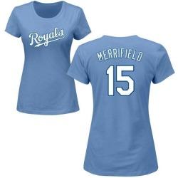 Women's Whit Merrifield Kansas City Royals Roster Name & Number T-Shirt - Light Blue