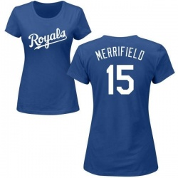 Women's Whit Merrifield Kansas City Royals Roster Name & Number T-Shirt - Royal