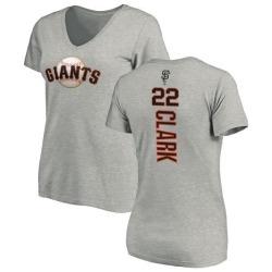 Women's Will Clark San Francisco Giants Backer Slim Fit T-Shirt - Ash