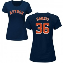 Women's Will Harris Houston Astros Roster Name & Number T-Shirt - Navy
