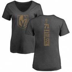 Women's William Karlsson Vegas Golden Knights Charcoal One Color Backer T-Shirt