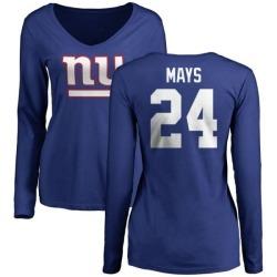release date 0e620 e8745 Men's Willie Mays New York Giants Name & Number Logo T-Shirt ...