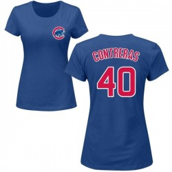 Women's Willson Contreras Chicago Cubs Roster Name & Number T-Shirt - Royal