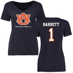 Women's Woody Barrett Auburn Tigers Basketball Slim Fit T-Shirt - Navy