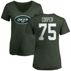 57aadf15 Men's Xavier Cooper New York Jets Name & Number Logo Long Sleeve T ...