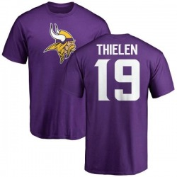 Youth Adam Thielen Minnesota Vikings Name & Number Logo T-Shirt - Purple