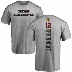 Youth Alex DeBrincat Chicago Blackhawks Backer T-Shirt - Ash