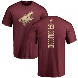 Youth Alex Goligoski Arizona Coyotes One Color Backer T-Shirt - Maroon