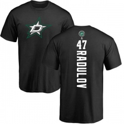 Youth Alexander Radulov Dallas Stars Backer T-Shirt - Black