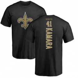 Youth Alvin Kamara New Orleans Saints Backer T-Shirt - Black