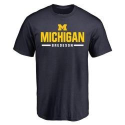 Youth Ben Bredeson Michigan Wolverines Sport Wordmark T-Shirt - Navy