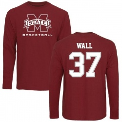 Youth Brad Wall Mississippi State Bulldogs Basketball Long Sleeve T-Shirt - Maroon