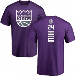 Youth Buddy Hield Sacramento Kings Purple Backer T-Shirt