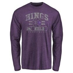 Youth Buddy Hield Sacramento Kings Purple Baseline Tri-Blend Long Sleeve T-Shirt