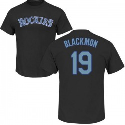 Youth Charlie Blackmon Colorado Rockies Roster Name & Number T-Shirt - Black