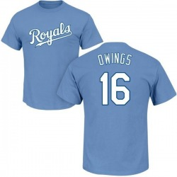 Youth Chris Owings Kansas City Royals Roster Name & Number T-Shirt - Light Blue