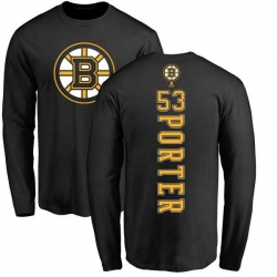 Youth Chris Porter Boston Bruins Backer Long Sleeve T-Shirt - Black