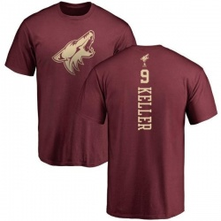 Youth Clayton Keller Arizona Coyotes One Color Backer T-Shirt - Maroon