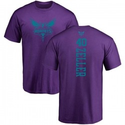 Youth Cody Zeller Charlotte Hornets Purple One Color Backer T-Shirt