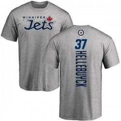 Youth Connor Hellebuyck Winnipeg Jets Backer T-Shirt - Ash