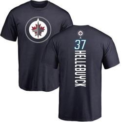 Youth Connor Hellebuyck Winnipeg Jets Backer T-Shirt - Navy