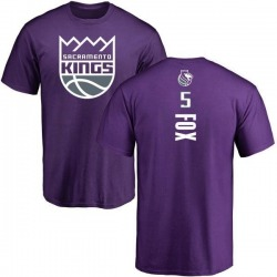 Youth De'Aaron Fox Sacramento Kings Purple Backer T-Shirt
