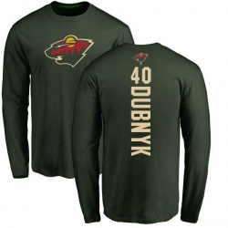 Youth Devan Dubnyk Minnesota Wild Backer Long Sleeve T-Shirt - Green