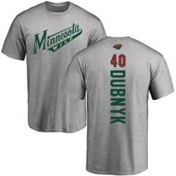 Youth Devan Dubnyk Minnesota Wild Backer T-Shirt - Ash