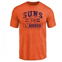 Youth Devin Booker Phoenix Suns Orange Baseline Tri-Blend T-Shirt