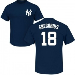 Youth Didi Gregorius New York Yankees Roster Name & Number T-Shirt - Navy