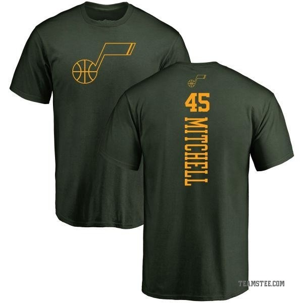 new concept d79cf 577fc Youth Donovan Mitchell Utah Jazz Green One Color Backer T-Shirt - Teams Tee