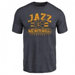 Youth Donovan Mitchell Utah Jazz Navy Baseline Tri-Blend T-Shirt