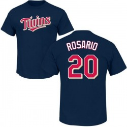 Youth Eddie Rosario Minnesota Twins Roster Name & Number T-Shirt - Navy