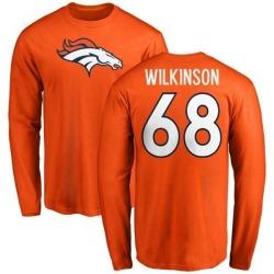 Youth Elijah Wilkinson Denver Broncos Name & Number Logo Long Sleeve T-Shirt - Orange