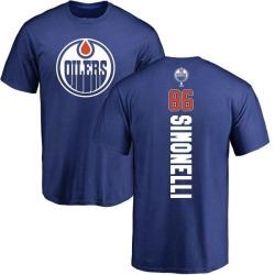 Youth Frankie Simonelli Edmonton Oilers Backer T-Shirt - Royal