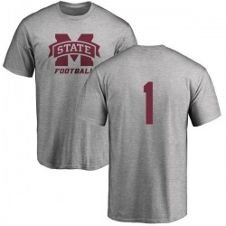 Youth Hunter Bradley Mississippi State Bulldogs One Color T-Shirt - Ash