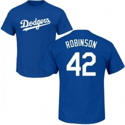 Youth Jackie Robinson Los Angeles Dodgers Roster Name & Number T-Shirt - Royal