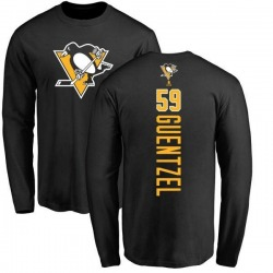 Youth Jake Guentzel Pittsburgh Penguins Backer Long Sleeve T-Shirt - Black