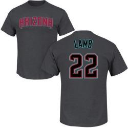 Youth Jake Lamb Arizona Diamondbacks Roster Name & Number T-Shirt - Charcoal