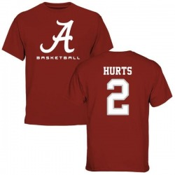 Youth Jalen Hurts Alabama Crimson Tide Basketball Short Sleeve T-Shirt - Crimson