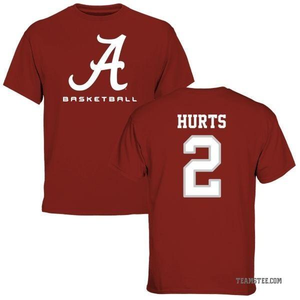 the best attitude 294b3 c7c89 Youth Jalen Hurts Alabama Crimson Tide Basketball Short Sleeve T-Shirt -  Crimson - Teams Tee