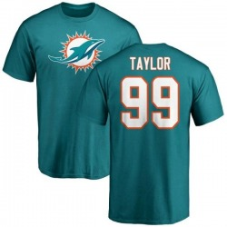 Youth Jason Taylor Miami Dolphins Name & Number Logo T-Shirt - Aqua