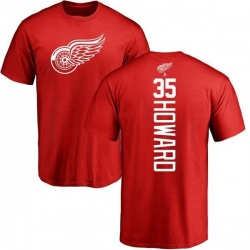 Youth Jimmy Howard Detroit Red Wings Backer T-Shirt - Red