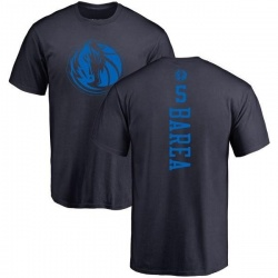 Youth J.J. Barea Dallas Mavericks Navy One Color Backer T-Shirt