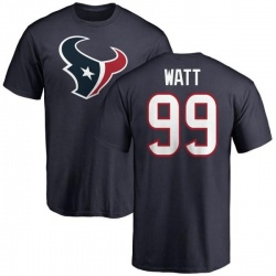 Youth J.J. Watt Houston Texans Name & Number Logo T-Shirt - Navy
