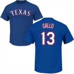 Youth Joey Gallo Texas Rangers Roster Name & Number T-Shirt - Royal